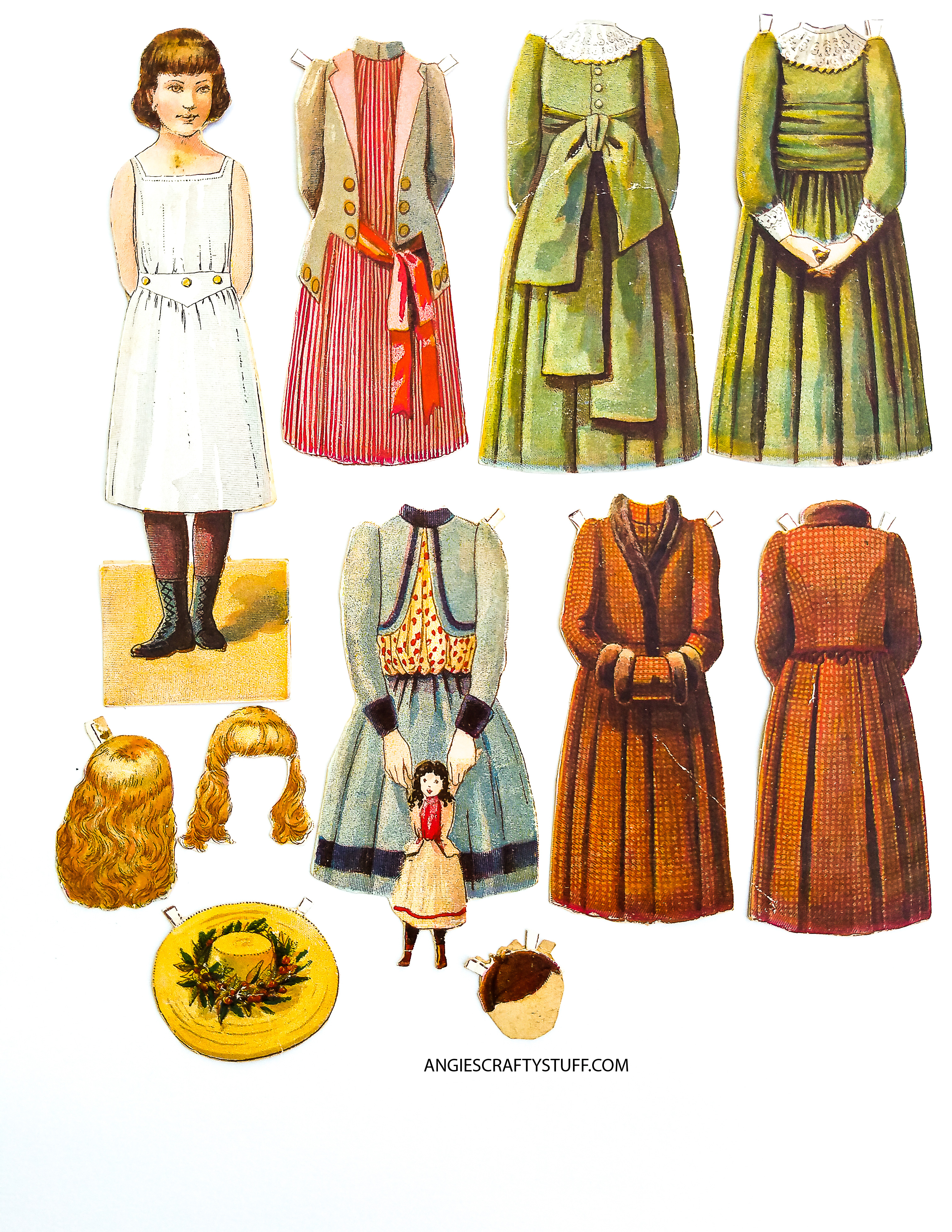 vintage clipart children  paper dolls and wicker chairs paper doll clip art holding hands paper doll clip art images