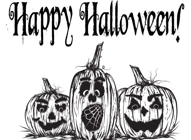 Free Printable Halloween Jack o'lantern Coloring Page